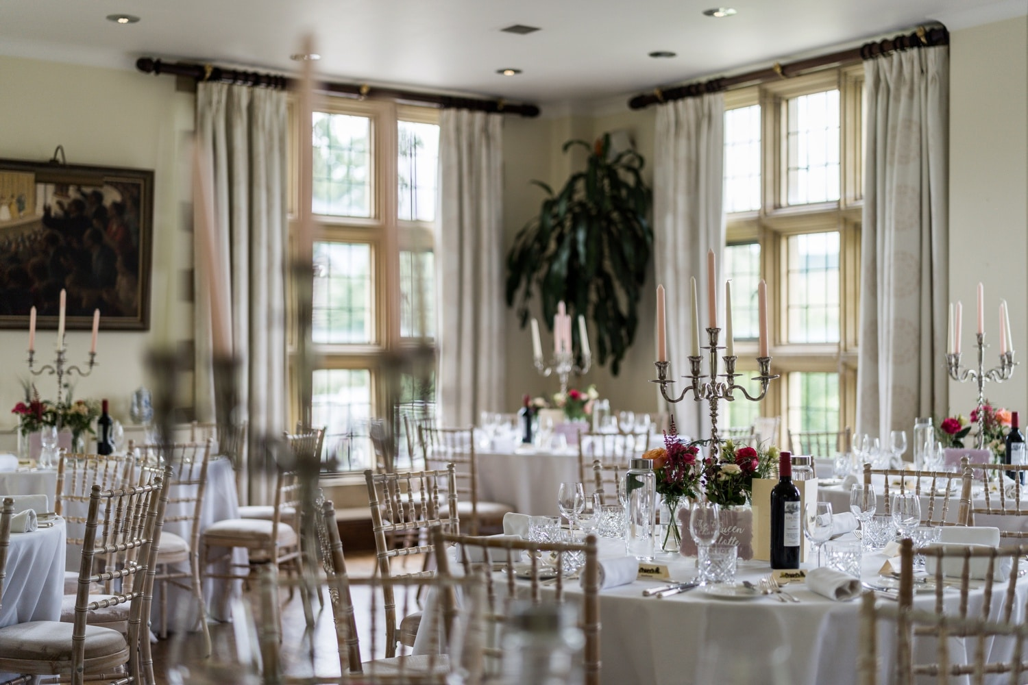 Wedding reception at Llangoed Hall in Wales
