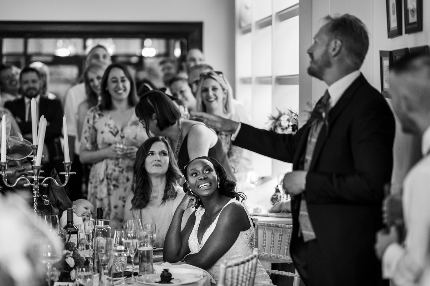 Wedding speeches at Llangoed Hall in Wales