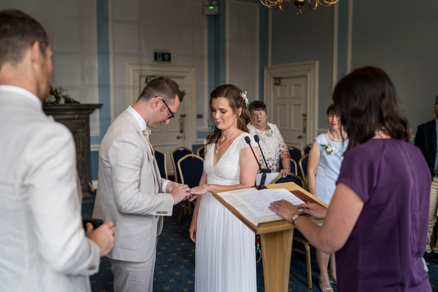 Marriage ceremony at Cardiff City Hall