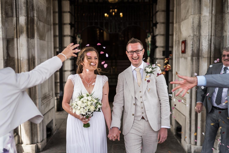 Mid week wedding at Cardiff City Hall
