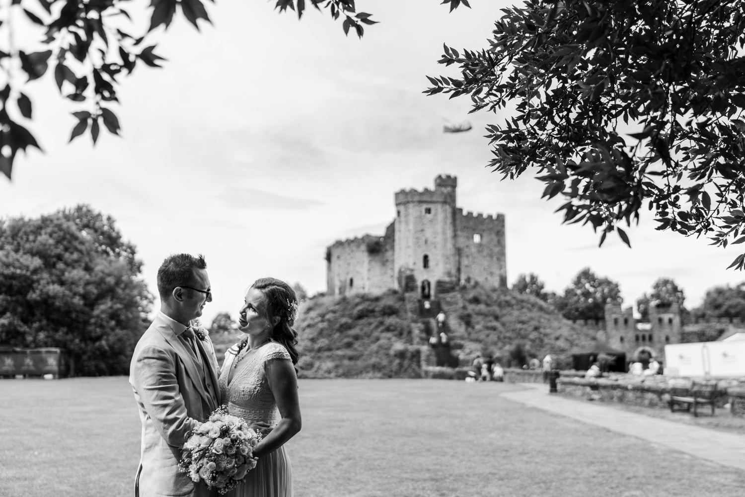 Wedding photography at Cardiff Castle