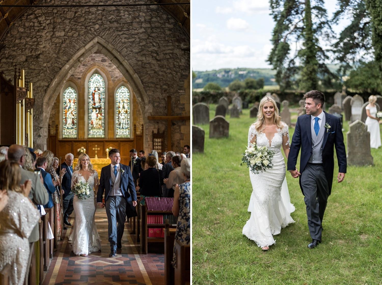 Wedding at St Michael's Church at Michaelstone-Y-Fedw