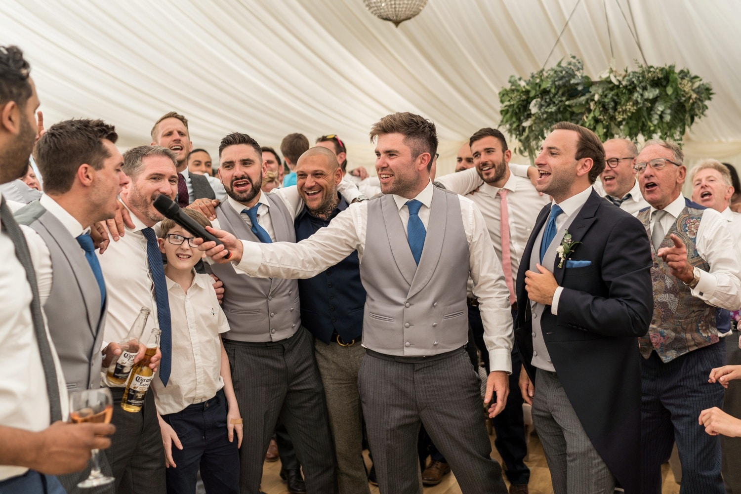 South Wales wedding in marquee