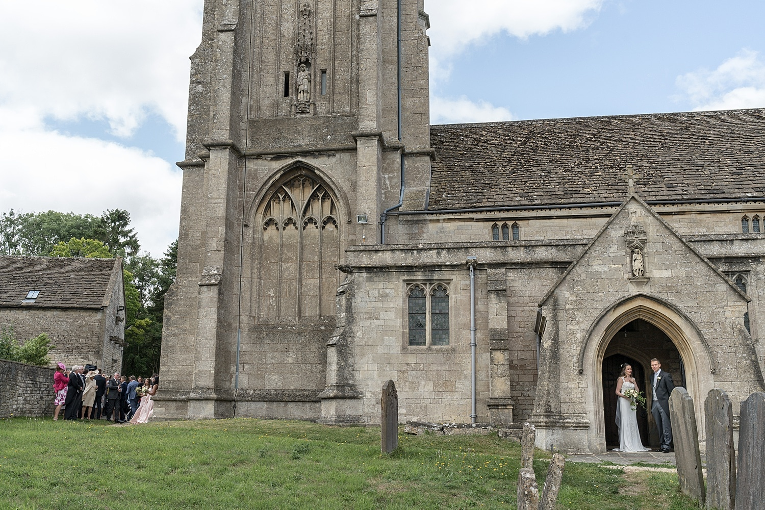 Wedding ceremony at Colerne Church