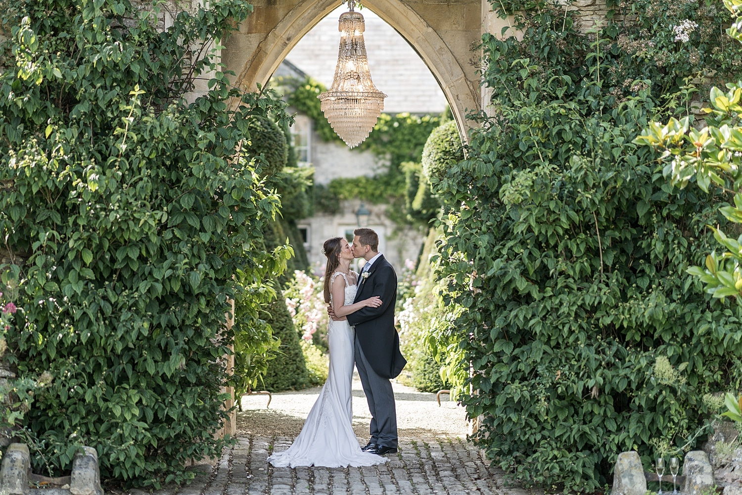 Bride and groom portraits at Euridge Orangery
