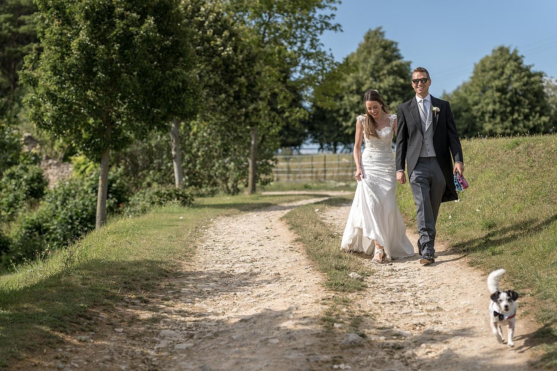 Bride and groom portraits at Euridge Orangery