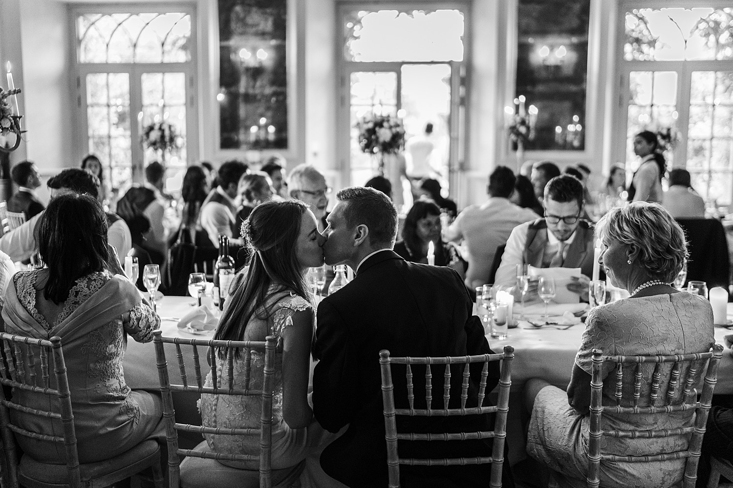 Wedding breakfast at Euridge Orangery