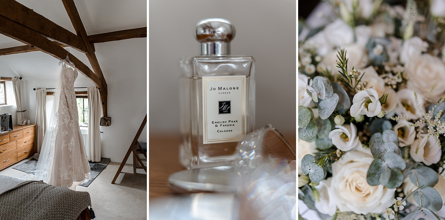 Bride perfume for Fairyhill wedding