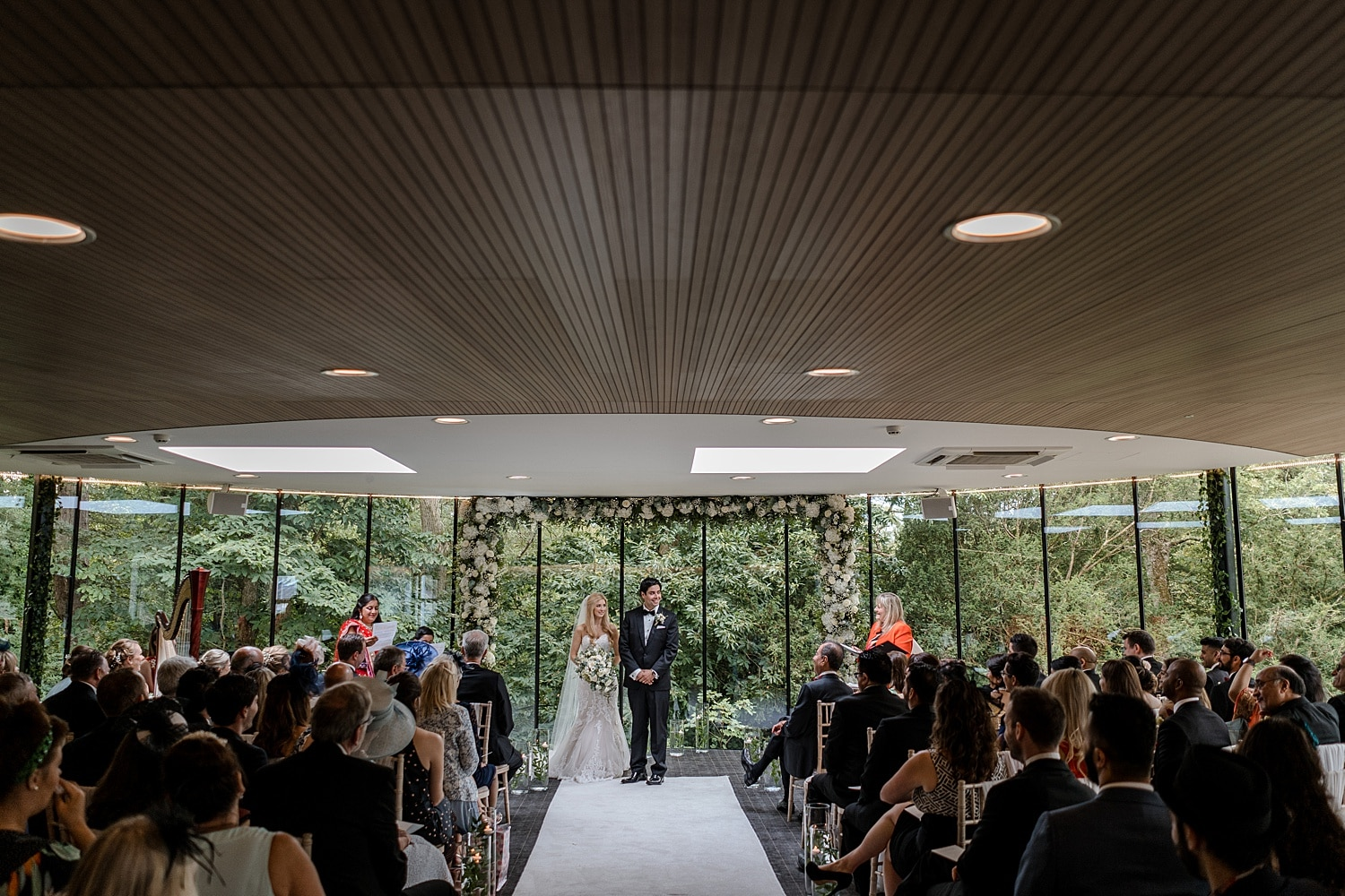 Wedding ceremony at Fairyhill