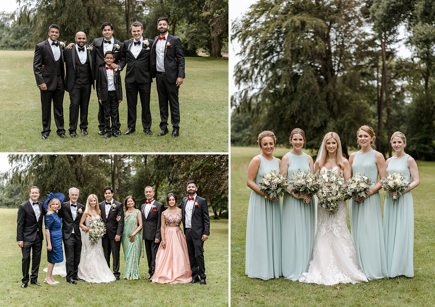Wedding group photographs at Fairyhill