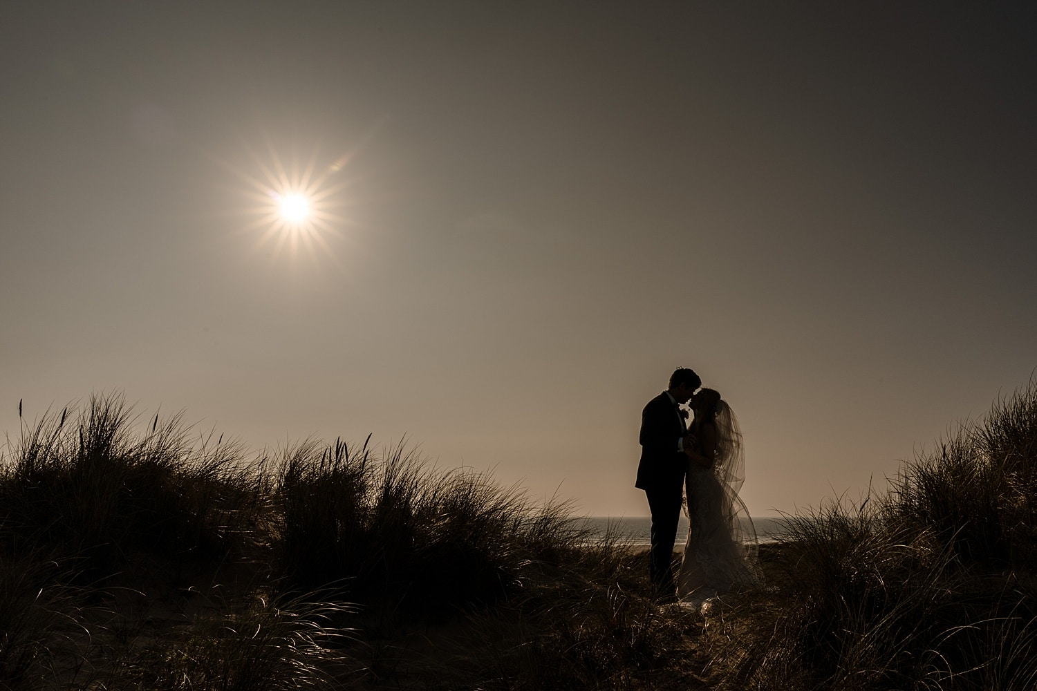 Wedding portraits at Llangennith Beach