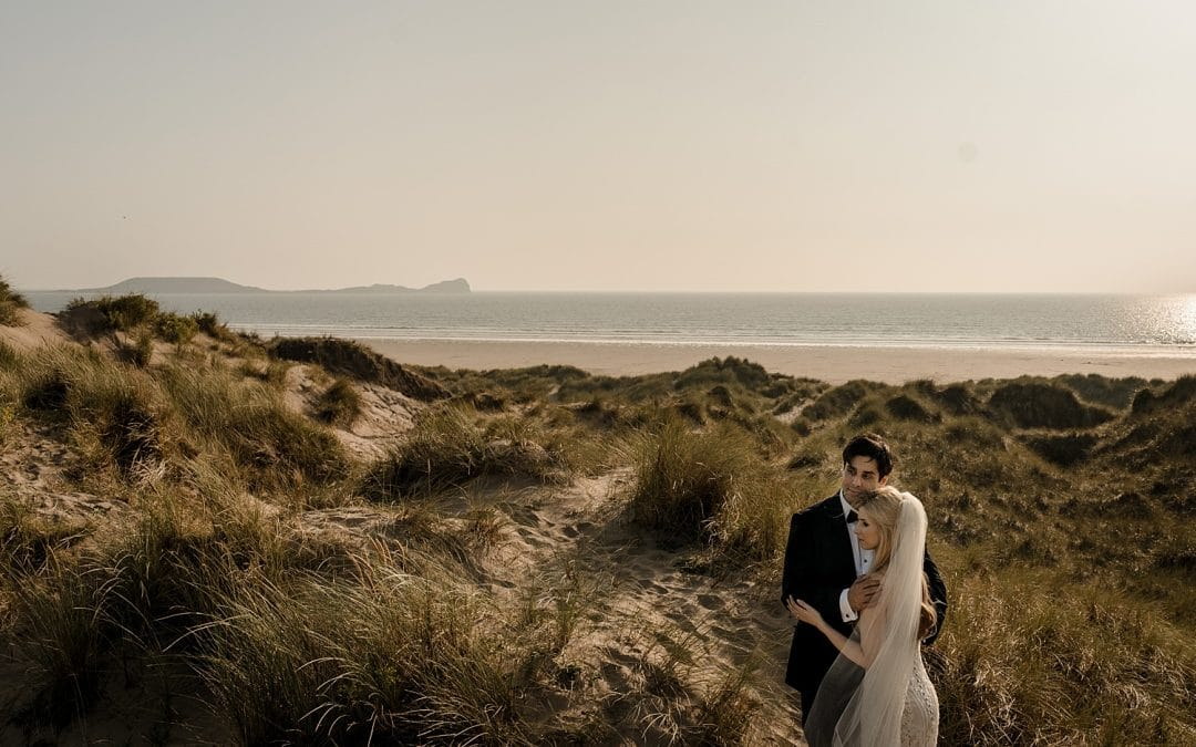 South Wales Wedding at Fairyhill & Llangennith Beach – Jessica & Shalin