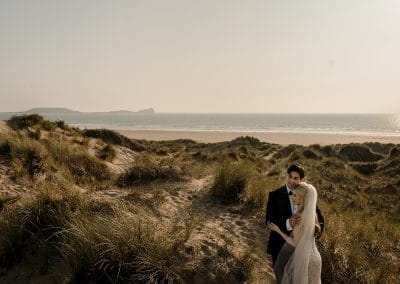 South Wales Wedding at Fairyhill & Llangennith Beach – Jessica & Shalin