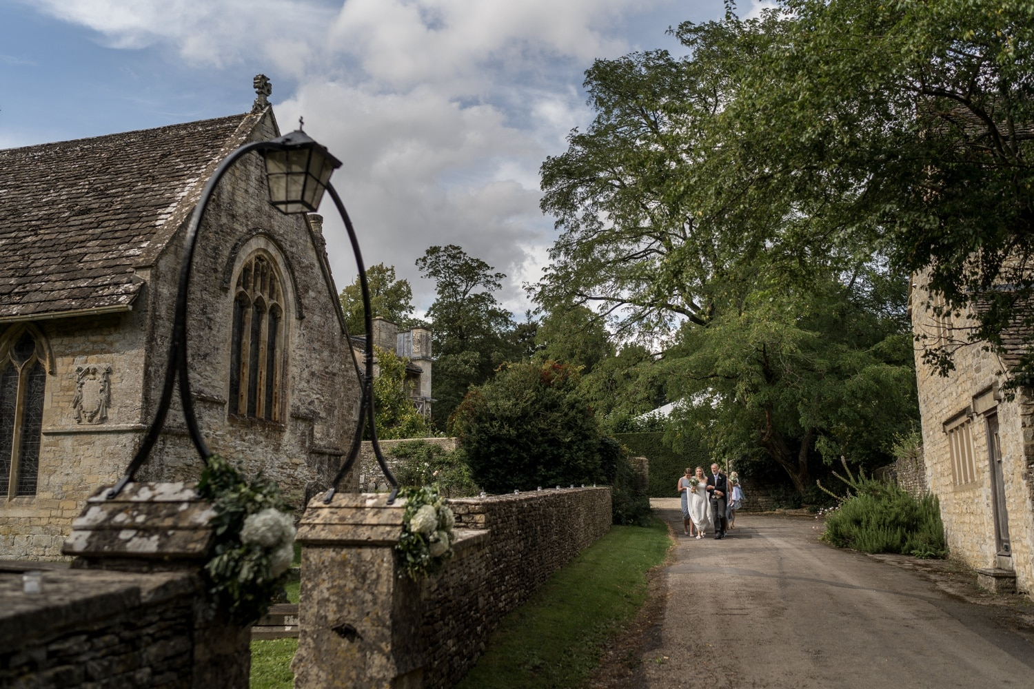 Cotswold wedding photography at Church of Holy Road in Ampey Crucis
