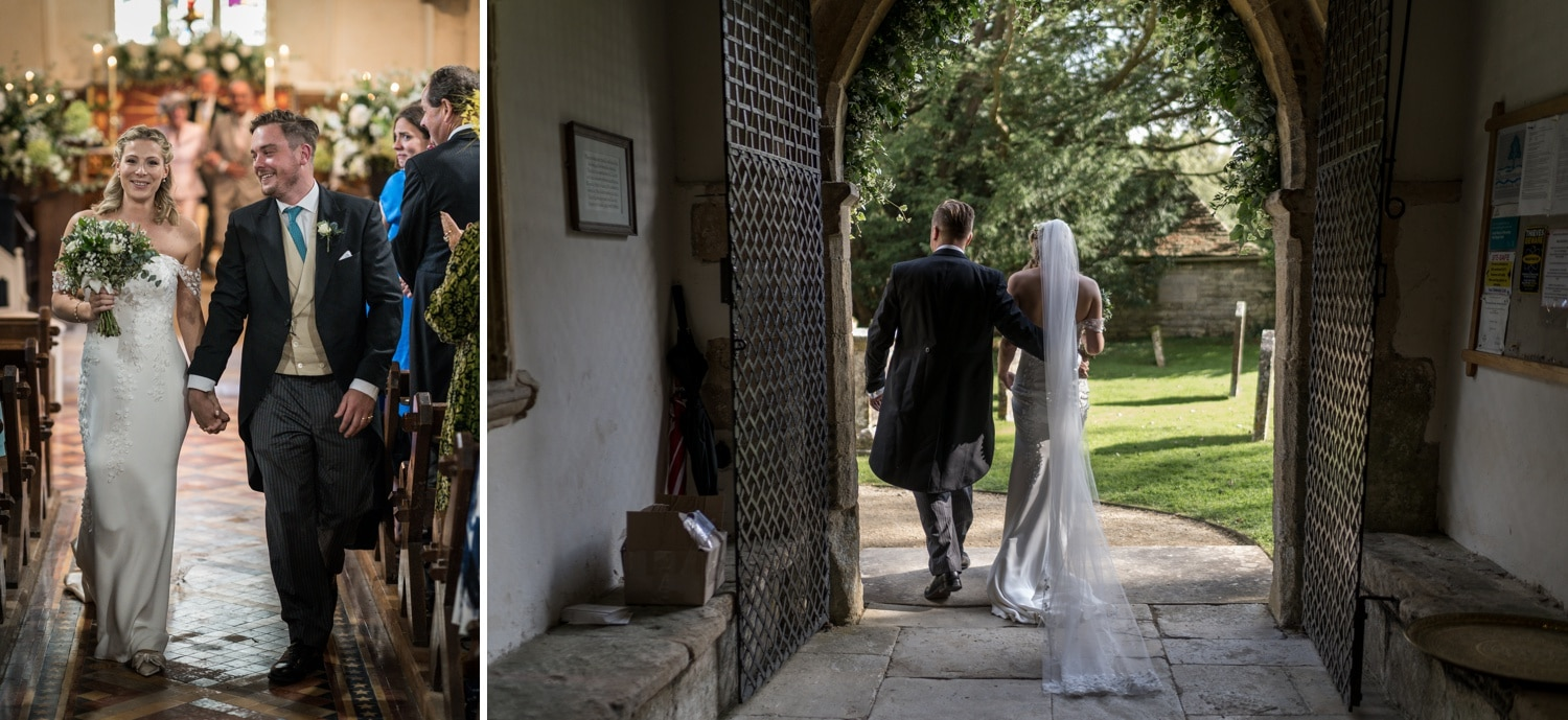 Marriage ceremony at Cotswolds church