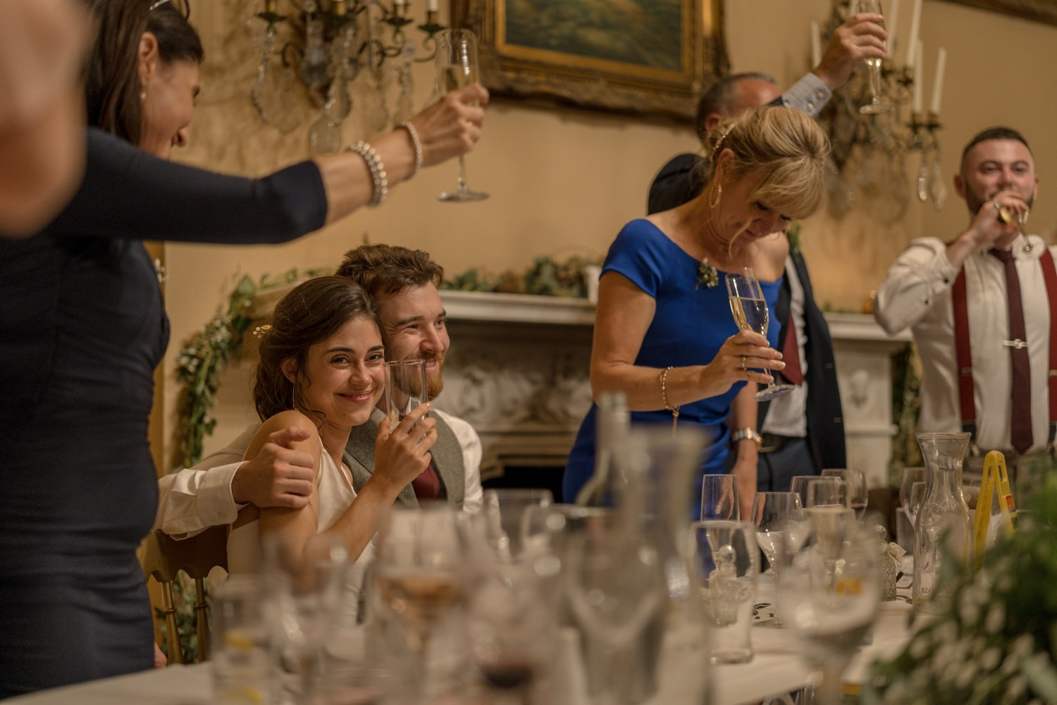 Wedding speeches at Orchardleigh House, Somerset