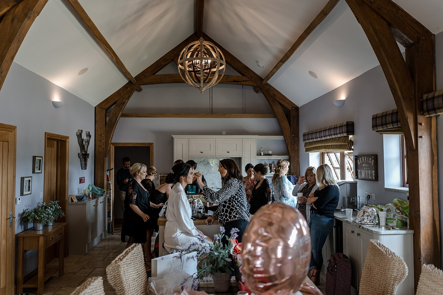 Bridal preparations at Fairyhill's Mulberry House