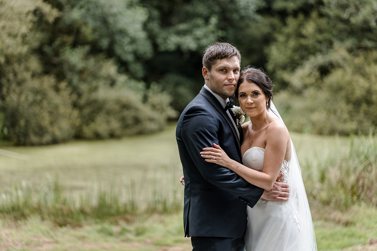 Wedding day portraits at Fairyhill, South Wales