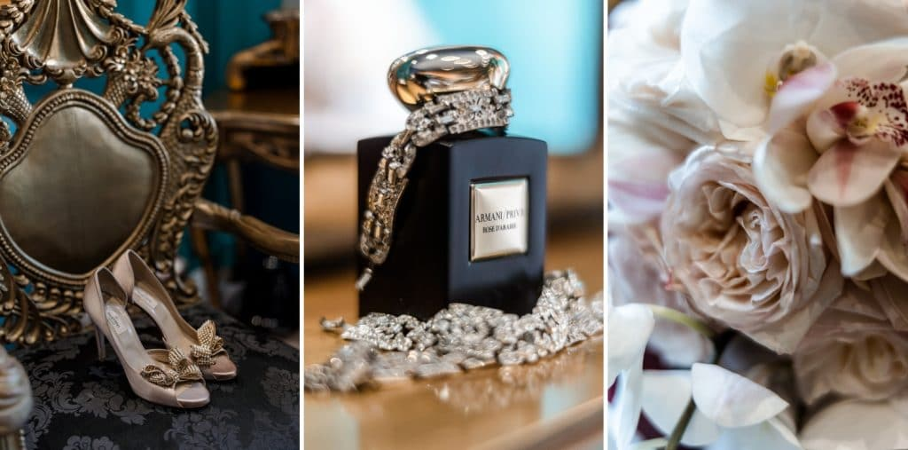 bridal details at Cardiff's Coal Exchange