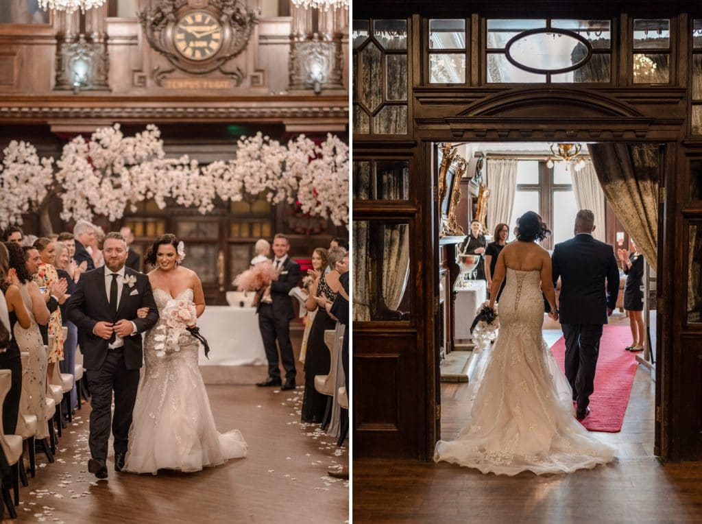 Wedding celebrations at Cardiff Coal Exchange