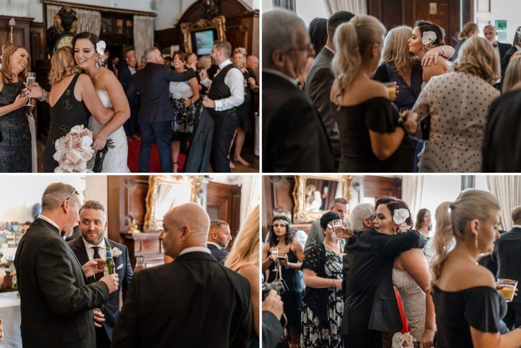 Wedding celebrations at Cardiff Coal Exchange