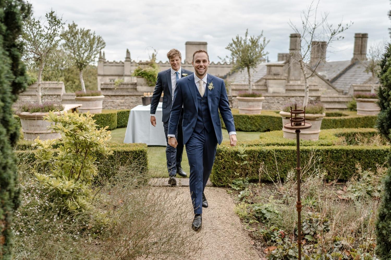 Groom arrives Euridge Manor