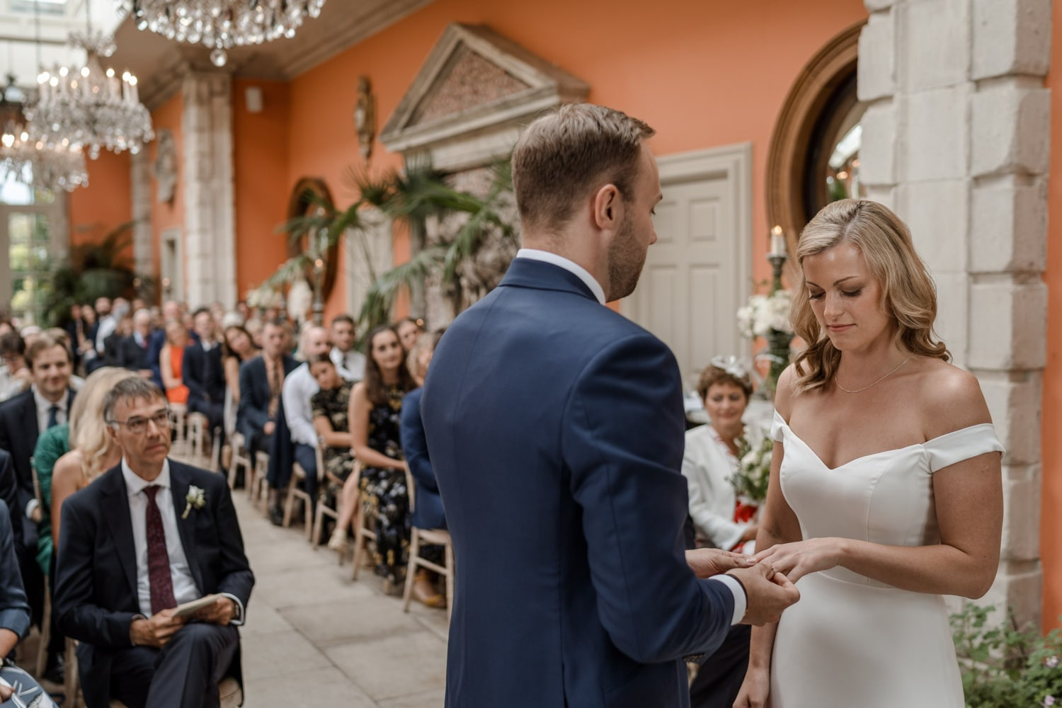 Marriage ceremony at the Orangery at Euridge Manor