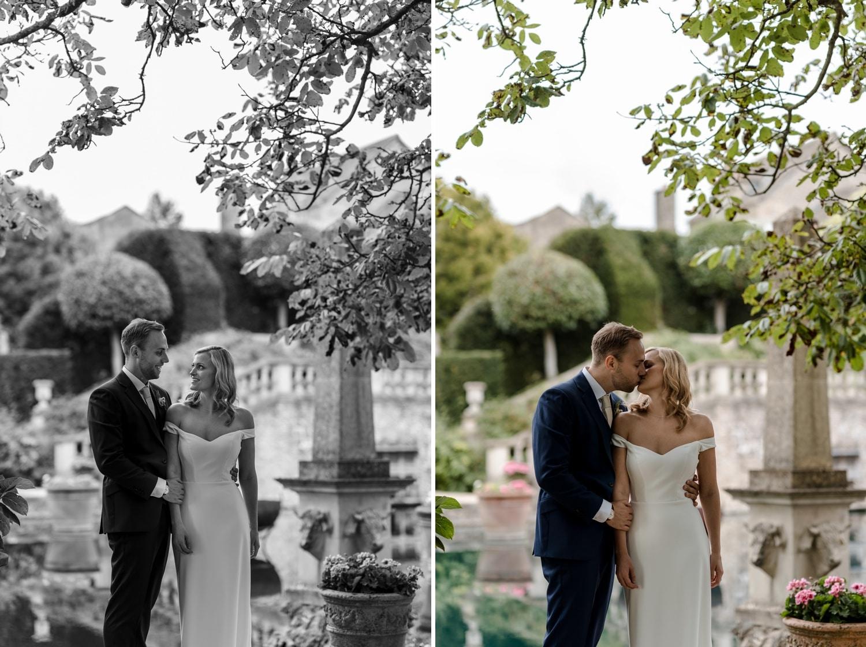 Bride and groom wedding portraits at Euridge Manor
