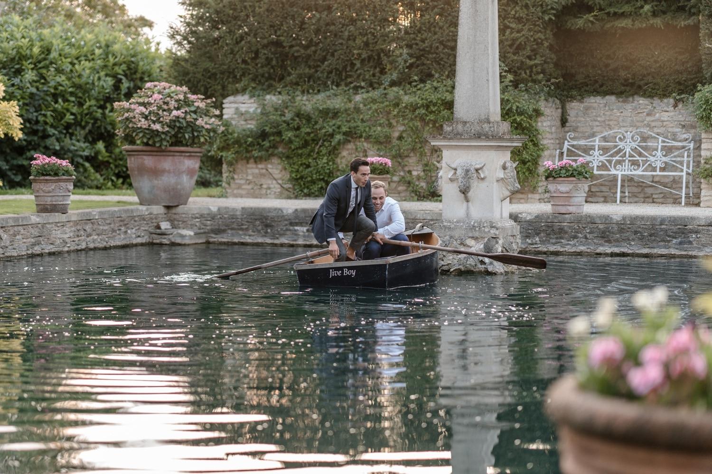 Boating pond at Euridge Manor