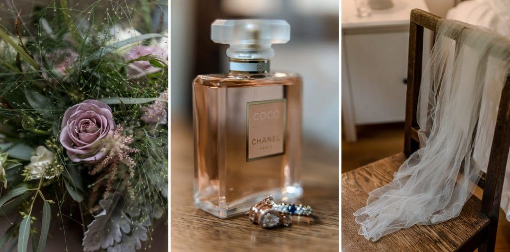 Bride's perfume for a Oxwich Bay wedding