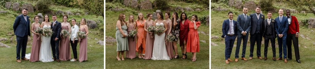 Wedding groups at Oxwich Bay