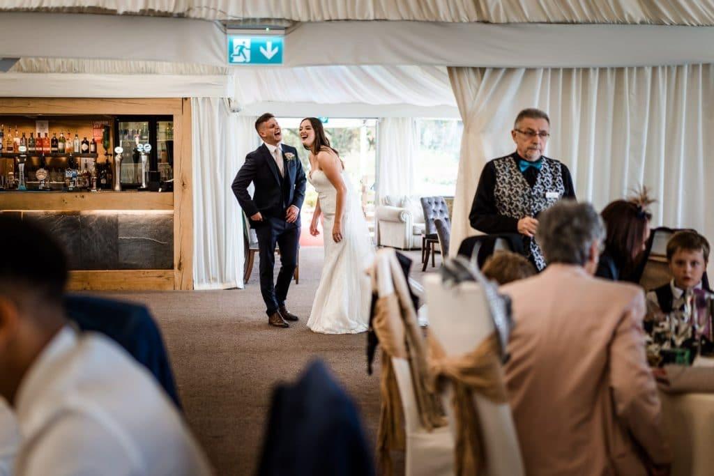 Wedding reception at Oxwich Bay