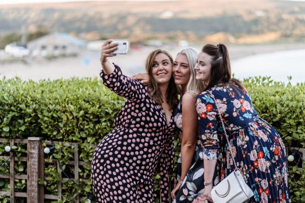 Wedding guest selfie