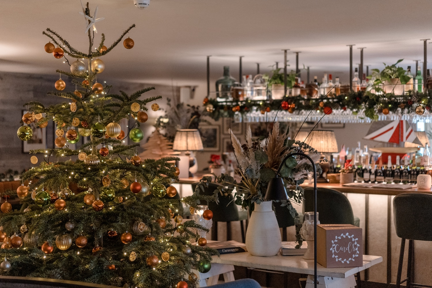 Christmas tree at The Gallivant, Camber Sands, Sussex
