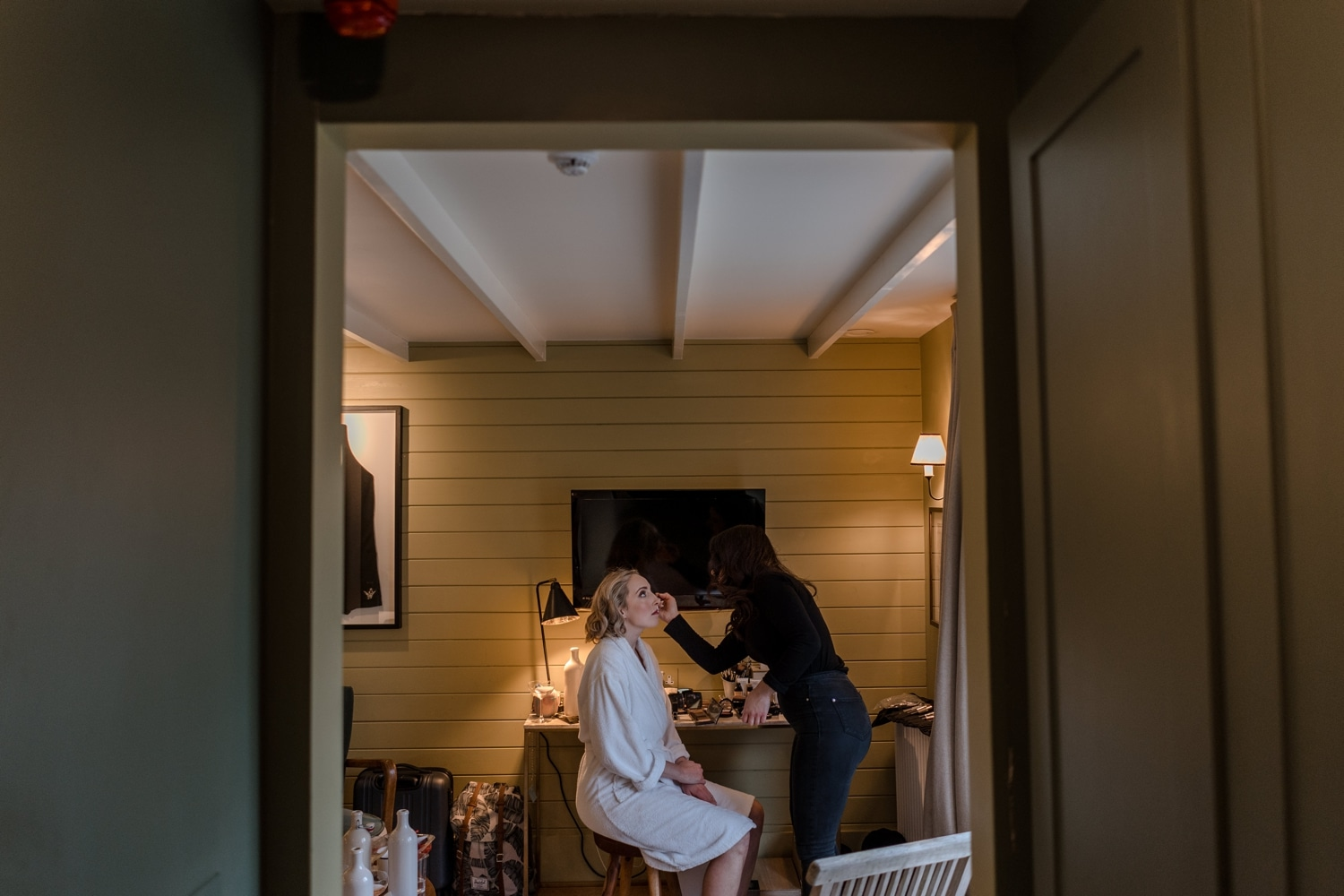 Bride prep at The Gallivant, Camber Sands, Sussex