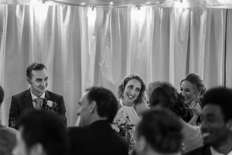 Wedding day speeches at The Gallivant