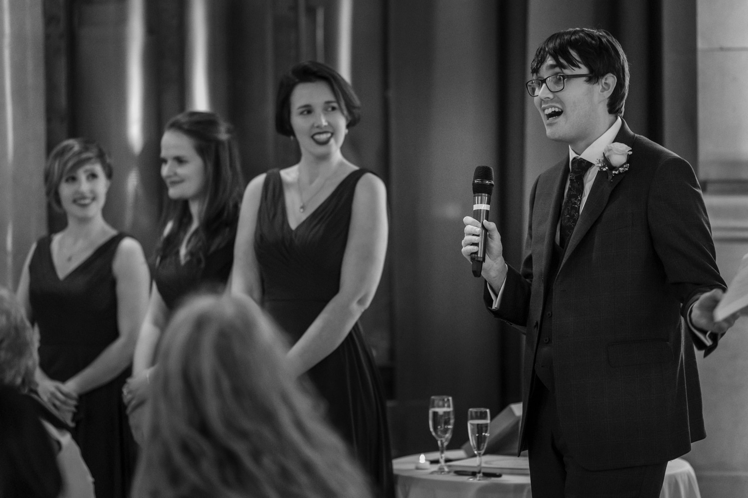 Speeches at Cardiff Museum wedding