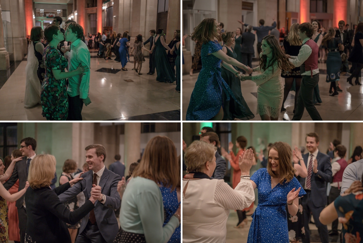 Dancing at Cardiff Museum wedding