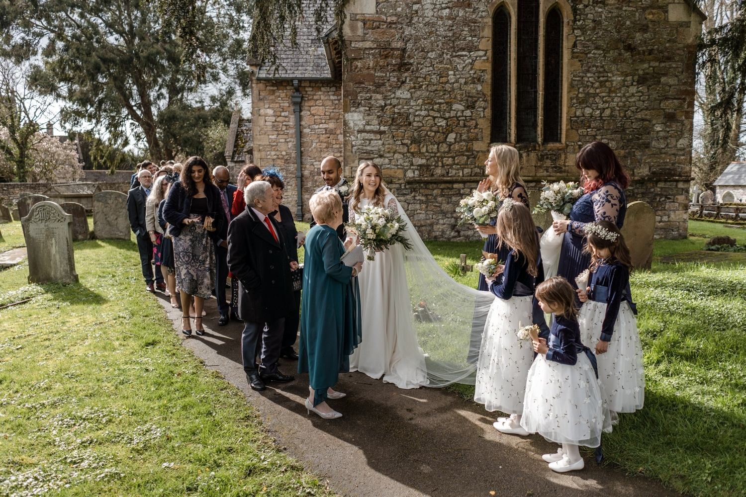 St Tewdrics Church wedding in South Wales