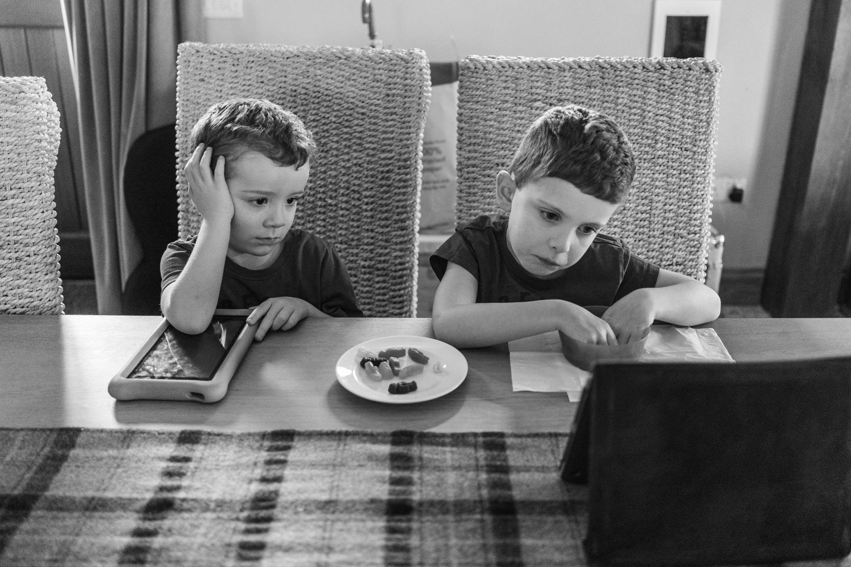 Boys watching ipad