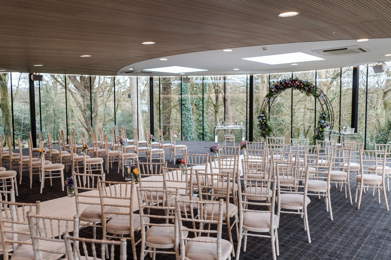 Ceremony room at Fairyhill