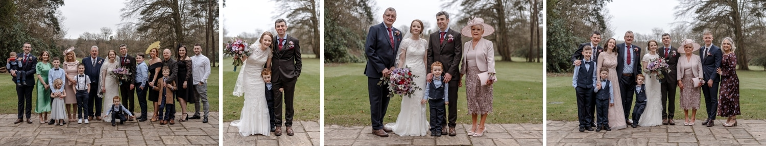 wedding group photographs at fairyhill in south wales