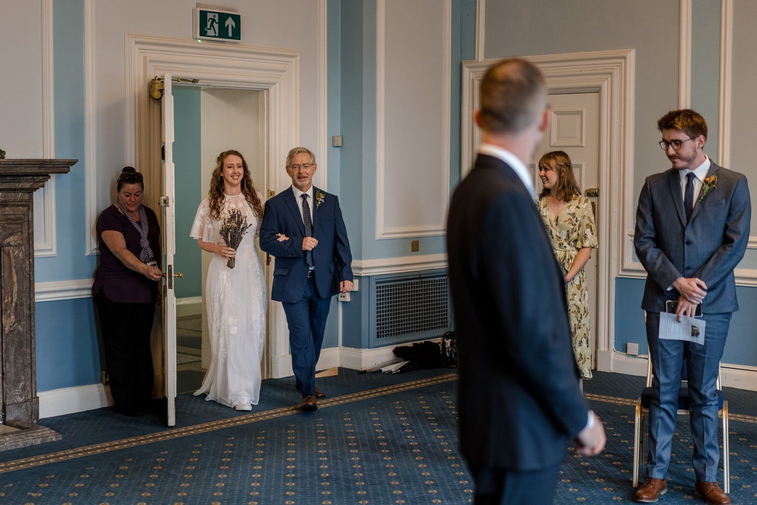 Socially Distanced Wedding Cardiff City Hall