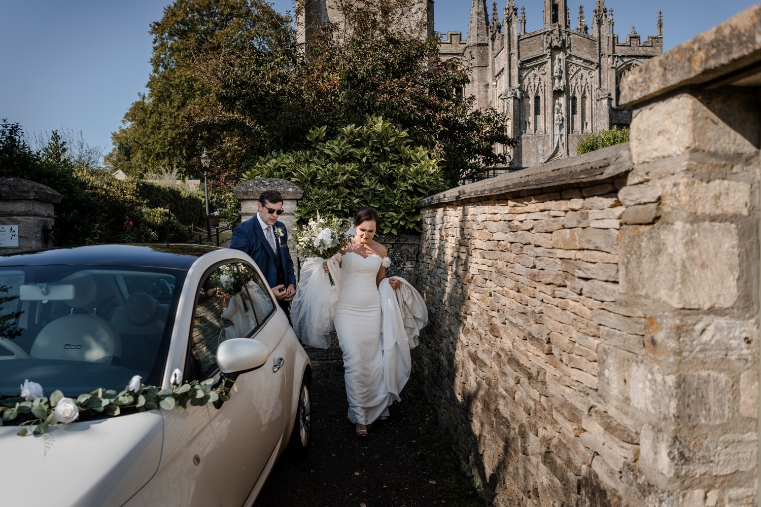 Northleach church wedding