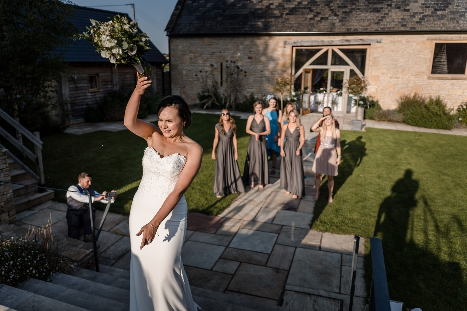 wedding reception at upcote barn