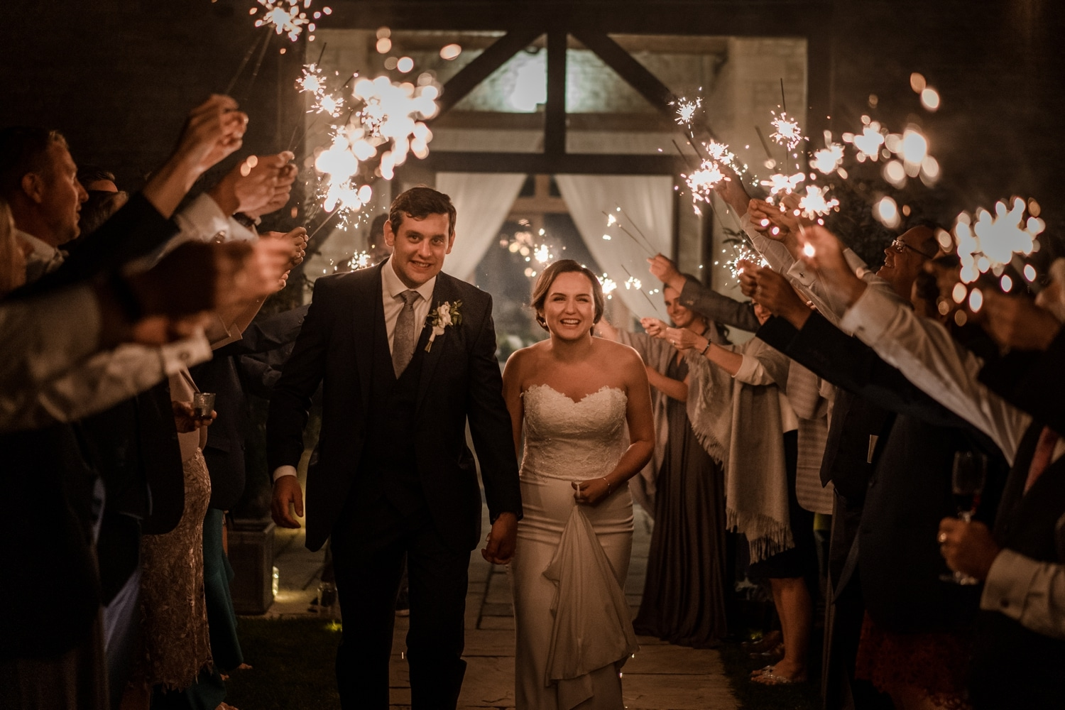 Sparklers at Upcote barn