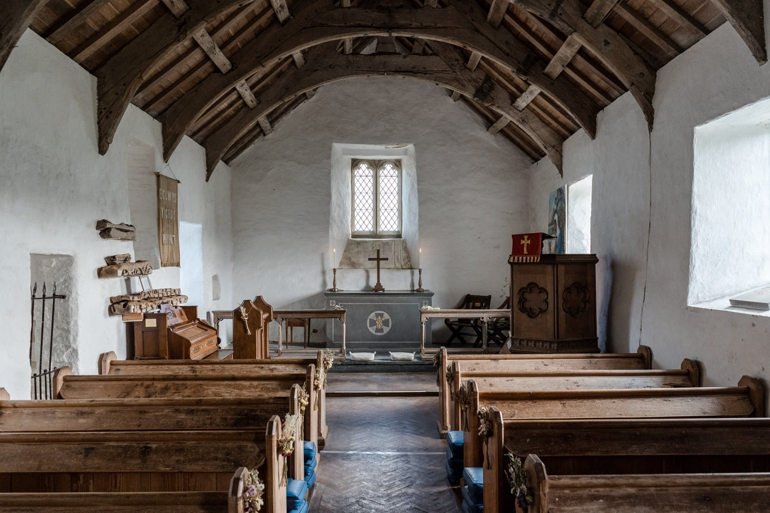 Inside Mwnt Church, West Wales
