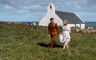 Mwnt Church Wedding Photography – Hazel & Tom