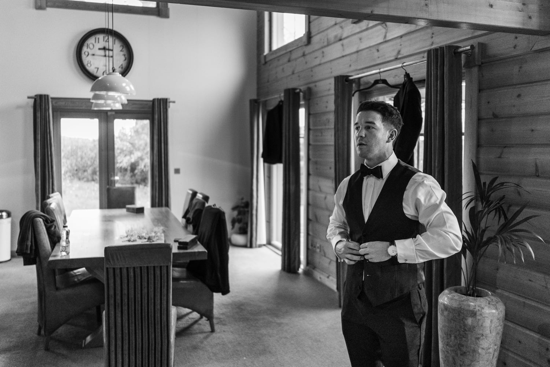 Groom preparations at Hunter Lodges, Celtic Manor Resort