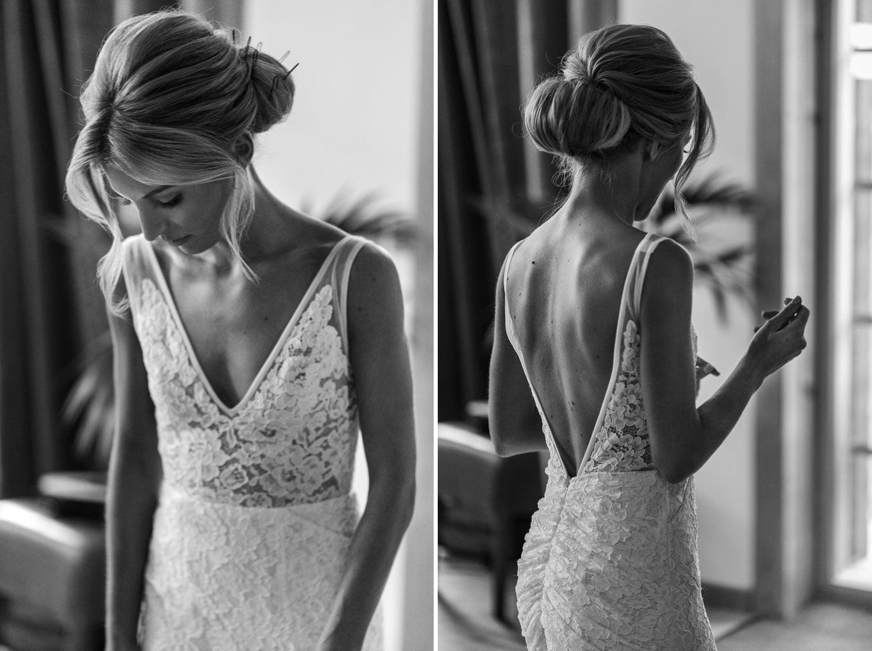 Bridal preparations at Hunter Lodges, Celtic Manor Resort
